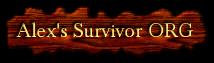 Alex's Survivor ORG Wiki