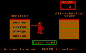 World of Words-Alf-a-betical Order