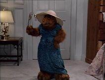 Alf im blauen Kleid