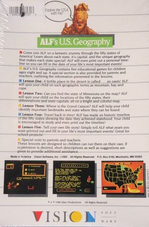 US Geography box back