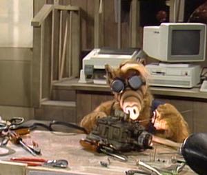 ALF welding spaceship part