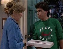 Raquel und der Pizzalieferant