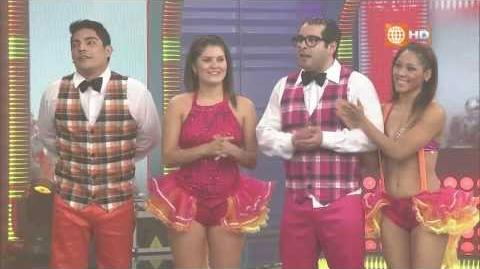 Nataniel Sanchez, Erick Elera y Junior Silva bailan en El Gran Show