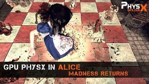 GPU PhysX in Alice Madness Returns