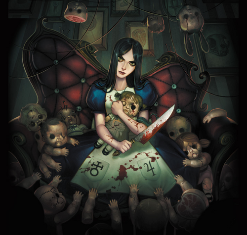 Alice with dolls