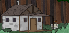 Alice's cottage, as see in Comic 27.
