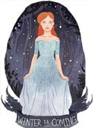 Лёна - принцесса снежинка