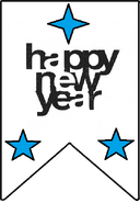 Зак новогодний флажок
