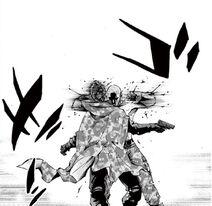 Aguni breaking Isao neck