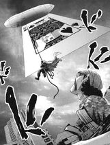 Isao attacking from the air