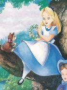 Alice In Wonderland Book Alice Make Flower Crown