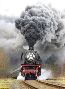 Volkswagen-logo-steam-engine-train-massive-smoke