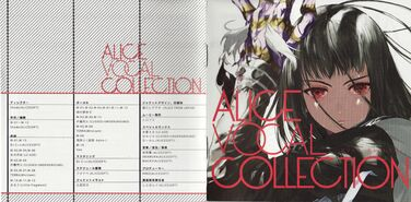 Alice Vocal Collection booklet front and back