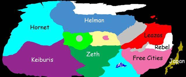 Kichikuou Rance - world map