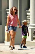 Alicia and son