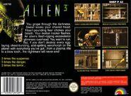 Alien 3 SNES tył pudełka