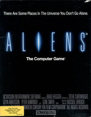 Aliens game 1986 front