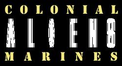 Aliens Colonial Marines comic logo