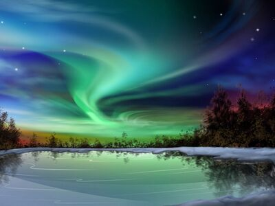 Green-aurora-borealis-wallpaper