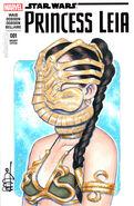 Princess leia facehugger by scottblairart-da02eqd