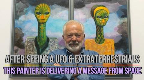 Robert Llimós Saw A UFO & Extraterrestrials, This Painter Is Delivering A Message From Space