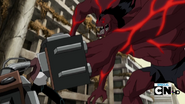 Alpha Cuatrobrazos atacando a Rex