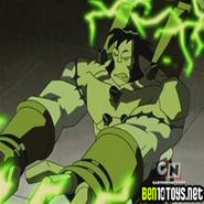 Benvicktor lanzando rayos verdes