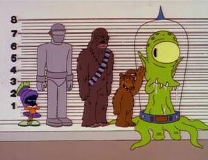 The Simpson Alien Line Up