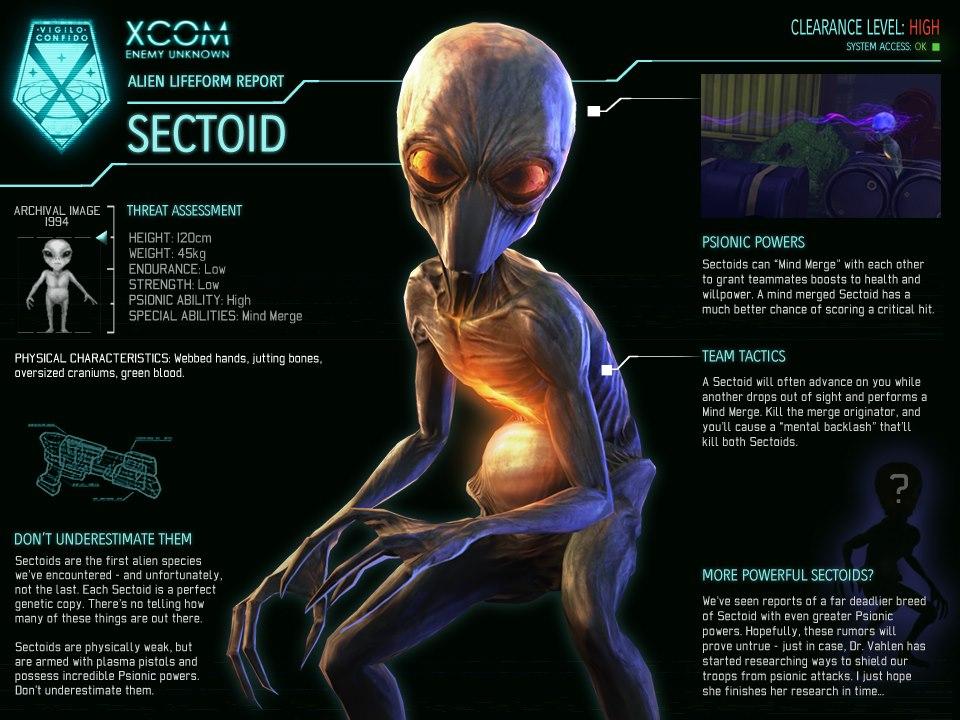 Sectoid | Alien Species | FANDOM powered by Wikia