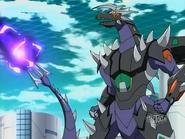 Infinity Helios usando Rayo Destructor