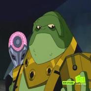 Emperador Milleous con el boton del rayo laser