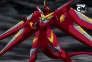 Fusion Dragonoid preparando Energito de Dragón