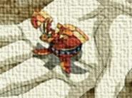 Neo Ziperator en forma bola abierta en una mano