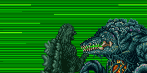 Godzilla fights Biollante