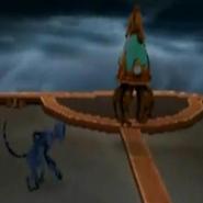 Mono Araña en Encephalonus IV, atras tormentas constantes
