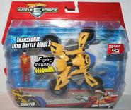 Juguete de la Chopper junto al juguete de Zoom