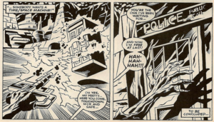 The Eraser captures the TARDIS.