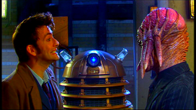 The Doctor talks to Dalek Sec.
