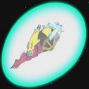 Aggregor Supremo volando con el escudo de burbuja de Bivalvan