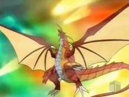 Delta Dragonoid haciendo el Ataque Golpe D