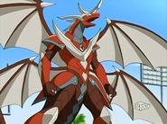 Contestir como Lumino Dragonoid en modo de batalla