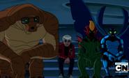 Albedo y sus actores sentados