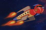 Fleeblebroxian starship