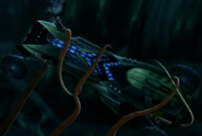 El Centro De Comando Tangler sostenido por el calamar gigante vandal