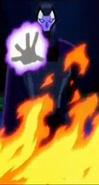 Eon detras del fuego