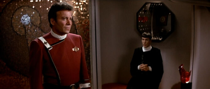 Kirk consults Spock