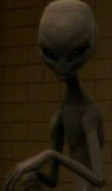 John in his alien form