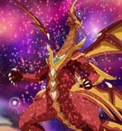 Cross Dragonoid perdiendo la energia de atributo Pyrus