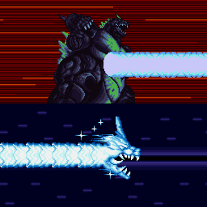 Super Godzilla uses his Nova Beam.
