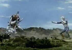 Zone Fighter fights Garoborg